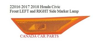 2016 2017 2018 Honda Civic Side Marker Lamp