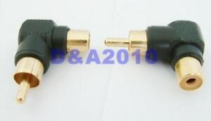 Gold-Plated-RCA-Male-to-RCA-Female-Right-Angle-Adapter