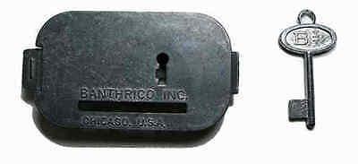Vintage Original Banthrico Piggy Savings Bank  Lock   Key Set  Car Not Included