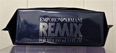 - EMPORIO ARMANI REMIX GIORGIO ARMANI 3.4 OZ / 100 ML SPY COLOGNE MEN DISCONTINUED