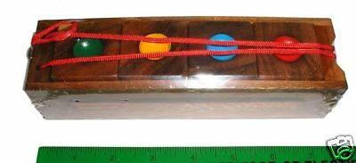 - Crazy four wood Brain Teaser puzzle size JUMBO