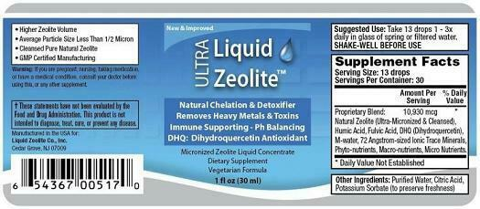 1pak zeolite liquid colon liver cleanse detox flush herb her
