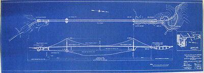 Golden Gate Bridge Blueprint Drawing Plan 1931  12x36  (236)