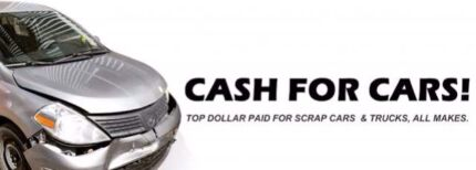 TOP DOLLAR FOR ALL SCRAP CARS / UTES / VANS