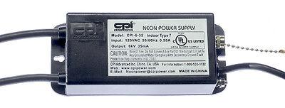 Cpi Advanced 6000 Volt 35 Ma Neon Sign Transformer - Power Supply - Cpi-6-35
