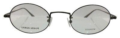 Giorgio Armani GA896 XYB Dark Gunmetal Titanium Eyeglasses Round Oval 46-22-145