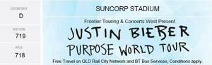 4 x Tickets to Justin Bieber Purpose World Tour (Suncorp Stadium) Kingston South Canberra Preview