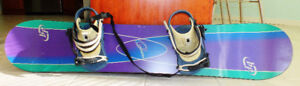 SNOWBOARD PACKAGE - BOARD, BINDINGS, BAG AND BOOTS