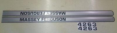 Massey Ferguson 4263 Hood Decals