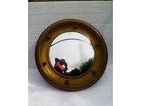 Vintage Convex Circular Mirror