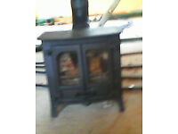 Charnwood Island 1 multifuel stove with short flue pipe and operating and installation instructions