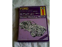 Ford Escort Mark 111 Workshop Manual