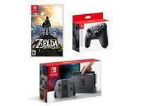 Brand new Nintendo Switch Zelda bundle with Pro Controller