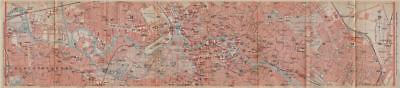 BERLIN CENTRE town city stadtplan. Charlottenburg Moabit Lichtenberg 1923 map