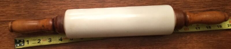Antique Milk Glass Rolling Pin