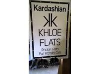 wholesale lot of bn 500 pairs Kardashian flat ballet shoes sizes 3-8 assorted suit market trader