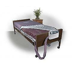 OPEN BOX AIR MATTRESS + FULLY ELECTRIC HOSPITAL BED + FULL RAILS FOR $950.00