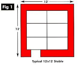 12ft x 12ft Stable Layout