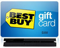 Exchange $350 Bestbuy Giftcard for PS4