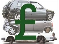 WANTED-SCRAP CARS, DAMAGED, NO LOGBOOK, INSURANCE WRITE OFF, BEST PRICES PAID, IMMEDIATE COLLECTION
