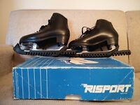 As New: Black Risport Laser Ice Skates Size 43 (= Size 9)