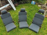 Folding minibus seats