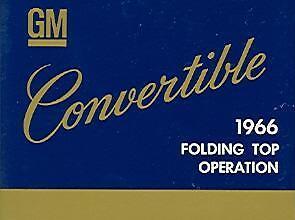 1966 66 Oldsmobile/442 Folding Top Manual