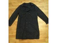 New Grey Mens Long Lightweight Coat L-XL