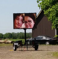 Mobile Trailer LED SIGN RENTAL -Businesses or special events.