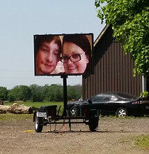 Mobile Trailer LED SIGN RENTAL -Businesses or special events. London Ontario image 1