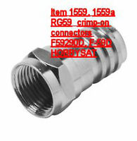 RG59 coaxial cable F crimp-on connector 100x one-piece silver