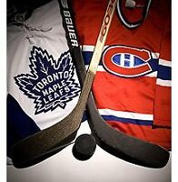 Xmas Gift idea! Maple Leafs vs Canadiens in Montreal and more!