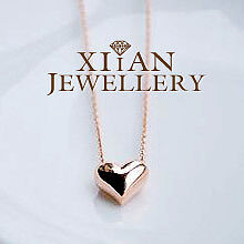 18K Rose Gold Plated GP  Simply Cute Heart Necklace