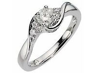 Engagement Ring - 18 carat white gold diamond solitaire