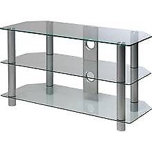 Brand new flat packed up to 28 inch glass tv stand