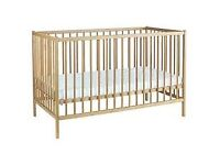 Wooden space saver cot