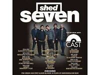 Shed Seven and Cast tickets x 3