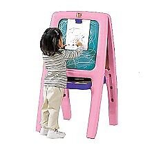 Reduced! Step 2 easel for   -pink in colour