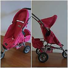 Valco Doll's Pram Stroller W/Toddler Seat 'Just Like Mum Collection'