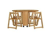 John Lewis Butterfly Folding Dining Table and Chairs