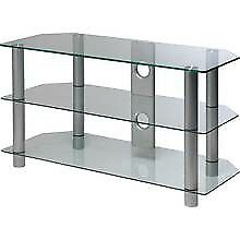 """Brand new flat packed up to 28 """"glass tv stand"""