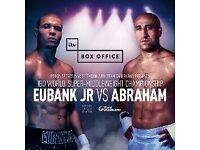 Chris Eubank Jr vs Arthur Abraham - World Championship Boxing 2 tickets