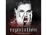 Taylor Swift Reputation Tour Tickets x2 - Manchester 8/6/18