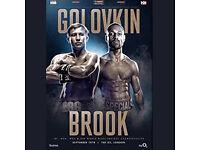 BOXING TICKETS 2 x Gennady Golovkin v Kell Brook Available @ 02 Arena, London - CHEAPER THAN STUBHUB