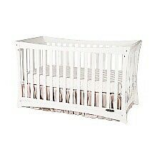 4 in 1 crib - white + crib mattress