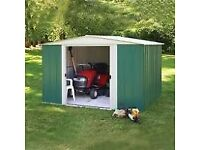 10 x 8. Arrow Greenvale Apex Metal Shed. Flatpack. New. AVAILABLE IMMEDIATELY.