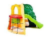 Little tikes jungle gym with slide and scramble net