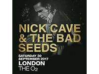 2 x Nick Cave tickets, O2 London 30/9/17