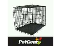 2x Metal based medium dog crate
