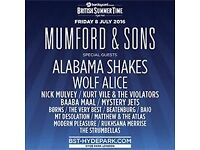2 priority Mumford & Sons tickets for Hyde Park, Friday July 8th